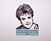 JESSICA FLETCHER Murder, She Wrote Mystery Quote Pin #2