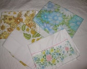 Vintage Pillowcases, Roses, Daisies, Flowers, Floral, Muslin Cotton, Cannon Monticello