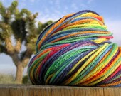 Worsted Weight Yarn - Merino Wool - Rainbow