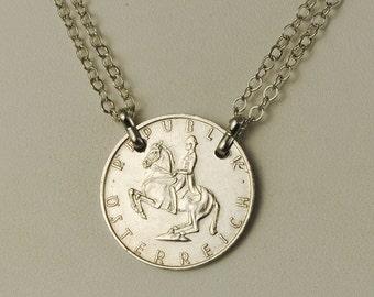 Austria Coin Necklace 1969 Lippizaner Stallion