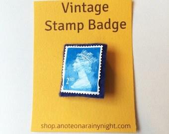 Vintage stamp badge- UK