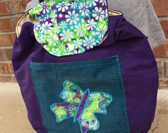 Big Kid Sized Backpack - BUTTERFLY