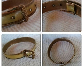 Vintage Victorian Bracelet Baby Buckle Brass Celluloid 2015231