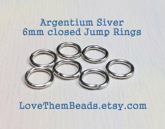 items similar to 6mm closed jump rings 20 argentium