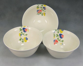 Yellow Red Blue and White Fine China Porcelain Serving Bowl Set Hand Thrown Translucent Ceramic Nesting Bowls Pottery Mixing Bowls 3