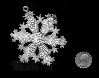 1971 STERLING MMA Snowflake Ornament