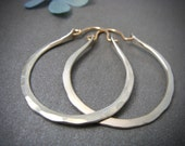dawning ... sterling silver hoops