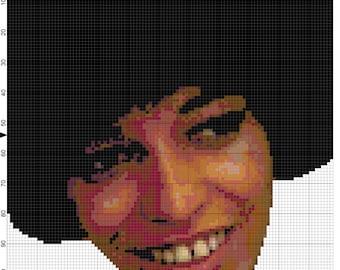digital pattern: Angela Davis