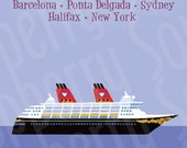 Disney Magic Transatlantic Cruise Magnet 5x7