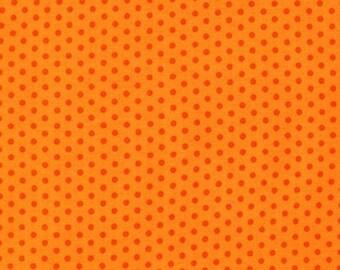 ON SALE - 10% Off Robert Kaufman Spot On Orange Pindot Quilting Apparel Fabric BTY