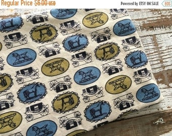 40% OFF FLASH SALE- Vintage Colonial Fabric-Horse and Carriage-Victorian