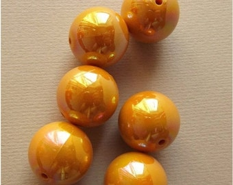ON SALE Vintage mustard yellow big beads