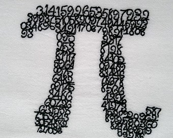 How about some Pi Embroidered Cotton Dish Towel - Genuine Flour Sack Towel