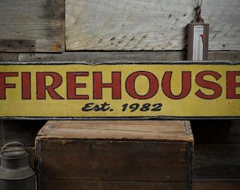fire dept wood sign etsy