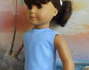 18 Inch Doll Clothes Baby Blue Modified Crop Top will fit American Girl