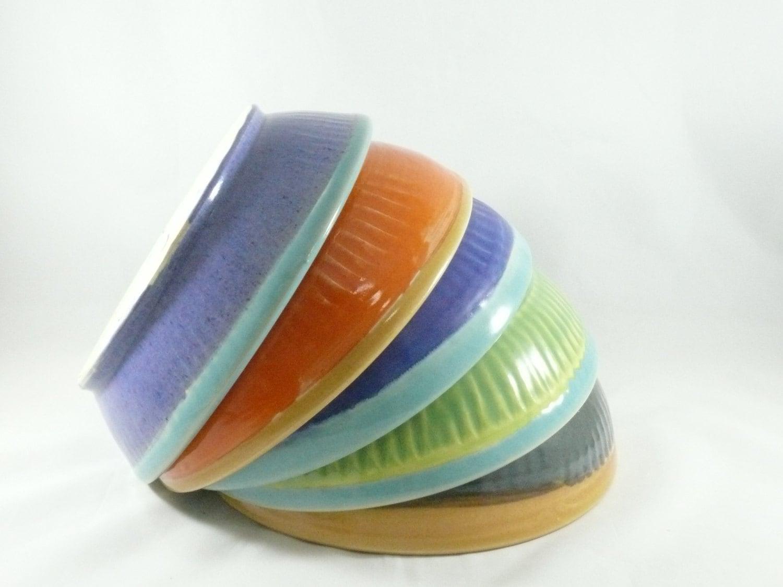Pasta Bowls Ceramic Pasta Dish Soup Bowls Colorful Salad