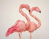 flamingos cake topper