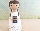 Custom First Communion Peg Doll