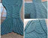 Mermaid Tail Blanket knit adult custom made to order