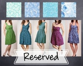 Reserved Listing- Custom Cotton Print Coordinating style - V-Neck, Boatneck, Strapless, Halter Dresses with Pockets  - COLOR OPTIONS