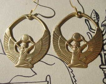 GODDESS ISIS Auset Earrings egyptian goddess jewelry