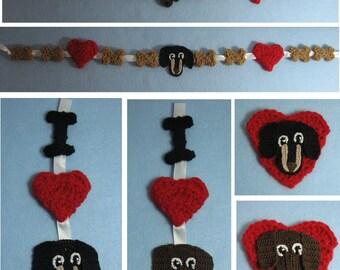 Crochet Pattern - Dachshund Ornaments and Garland Crochet Pattern - Ornament Pattern - Dog Ornament Pattern -Dachshund - Digital Download