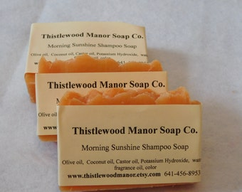 Morning sunshine (citrus) shampoo soap
