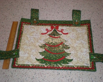 Christmas Tree Holiday Print Walker Bag