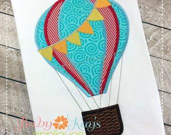 Hotair Balloon Applique Design 4x4, 5x7, 6x10, 8x8
