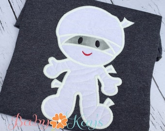 Little Mummy Applique Design 4x4, 5x7, 6x10, 8x8