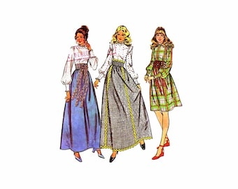 1970s Misses Skirt Puff Sleeve Blouse McCalls 3388 Vintage Sewing Pattern Size 14 Bust 36 UNCUT