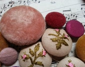 Shabby Antique Vintage Fabric Buttons.