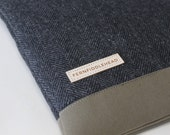 "Laptop Sleeve 11.6"", 12"",  13.3"", 15.6"" MacBook Air Pro Sleeve Toshiba Kirabook Sleeve 12""  - Gray Herringbone Wool"