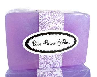 Handmade Soap, Rice Flower & Shea Soap, Light Scented Soap