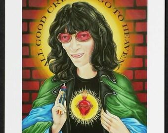 Saint Joey signed Giclee print