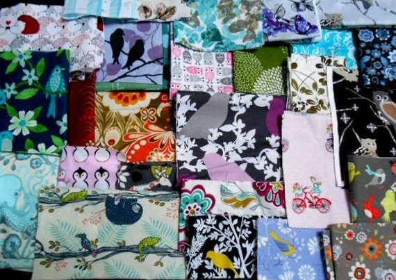 SUPER Great PRICE Designer Fabric scraps - all sizes - Perfect for Quilters/Patchwork/Crafters
