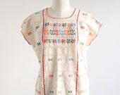 Vintage Ethnic Embroidered Boxy Top