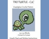Tiki Turtle - C2C - Graphghan Crochet Pattern