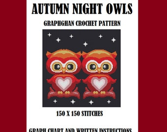 Autumn NIght Owls - Graphghan Crochet Pattern