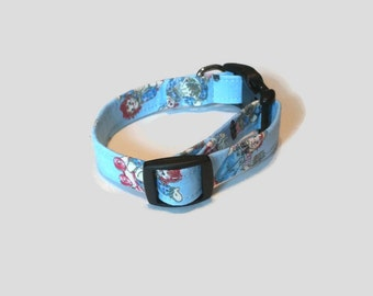 Whimsical Raggedy Ann and Andy Dog Collar Size Small XS S M L