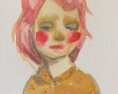 Painted Ladies 4.5x6 Original Watercolor Illustration