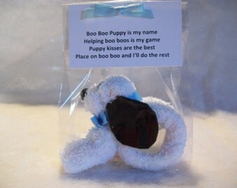 BOO BOO PUPPY with Ice Cube and Poem - Baby Shower or Party Favor