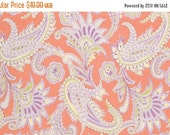 SALE Amy Butler Gypsy Caravan Turkish Paisley Tangerine Cotton Fabric by the yard from shereesalchemy