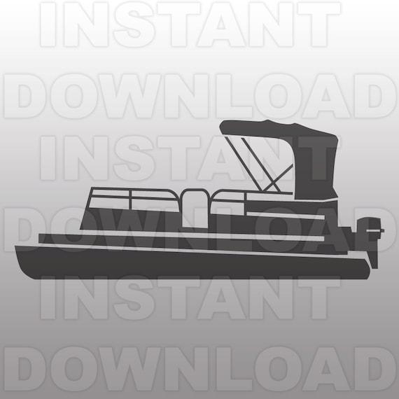 Pontoon Boat Svg Filelake Life Svg Fileboat Svg File Vector