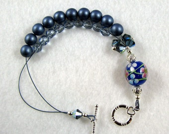 English Garden Abacus Bracelet for Knitting and Crochet - Item No. 498