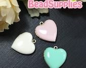 CH-EX-08055SA1- Nickel Free, Heart-shaped locket sampler, Trio of Soft, 3 pcs