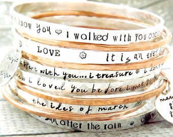 personalized bangle, stacking bangles,personalized bracelet, sterling silver bangle, personalized gift, mothers day gift, gift for mom
