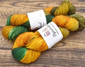 Steampumpkin - Strong Arm Sock Yarn hand dyed sock yarn, superwash merino and nylon