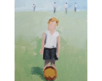 The Soccer Game - Print from Original Oil Painting