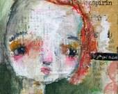 Candace - original 4x4 by Mindy Lacefield